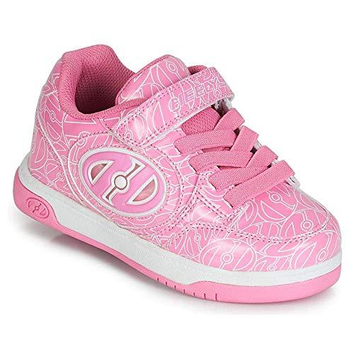 Heelys Unisex-Kinder Plus X2 Lighted (he100608) Skateboardschuhe, Mehrfarbig (Pink Patent/White Logo 000), 31 EU