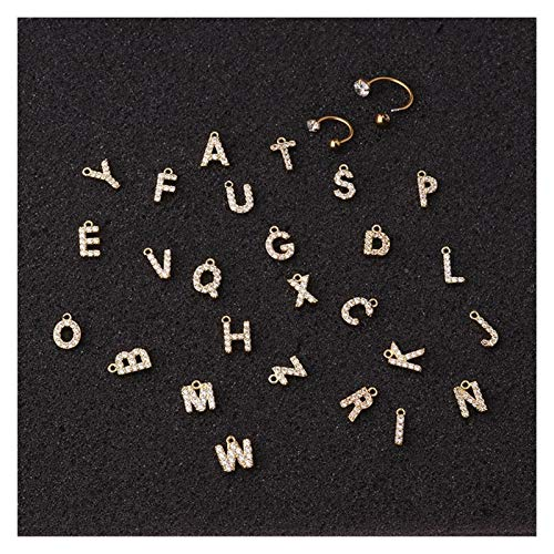 HLWJ 1PC CZ 26 letter stainless steel C-shaped cartilage earrings (Color : J, Size : 8mmsilver)
