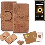 K-S-Trade® 360° Cover Cork Case For Ruggear RG650  