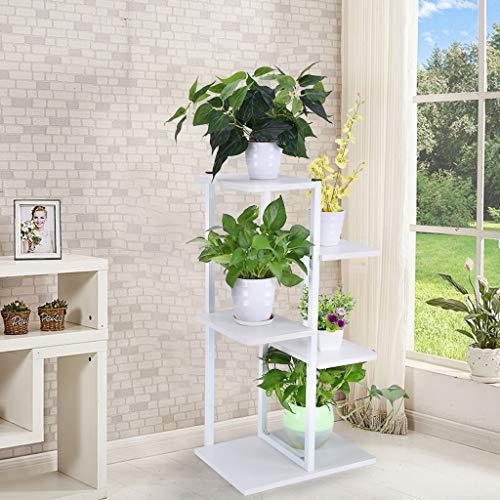 Karamoda US Fast Shipmet Flower Rack Plant Stand,Indoor Outdoor Storage Rack Display Flower Stands,6 Pots Holder Display Rack Patio Garden Balcony Yard (White)