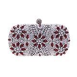 Damen-Handtasche mit Kristallperlen, für Hochzeit, Party, Abendveranstaltung, Abschlussball, silber, Medium