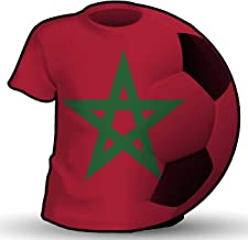 Makoroni - MOROCCO T Shirt & Soccerball Shape Country Flag National Soccer Team Sticker Car Laptop Wall Decal 4'x4'(Small) or 6'x6'(Large)
