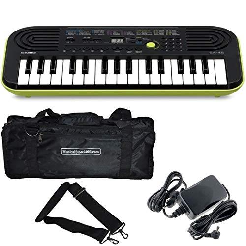CASIO SA46-LK Tastiera 32 Tasti Mini/Minibag/Alimentatore Bundle