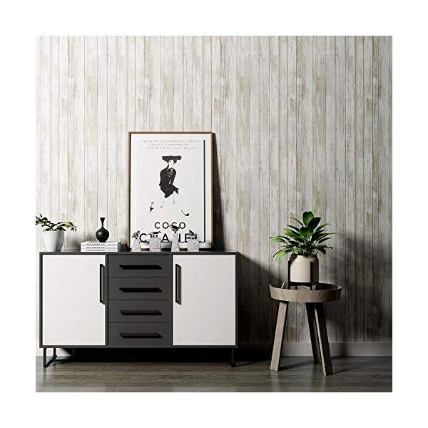 Vinilo Decorativo Rollo Papel Adhesivo para Muebles Cocina Armario Resistente al Agua Fácil de Limpiar Estilo Nostálgico…