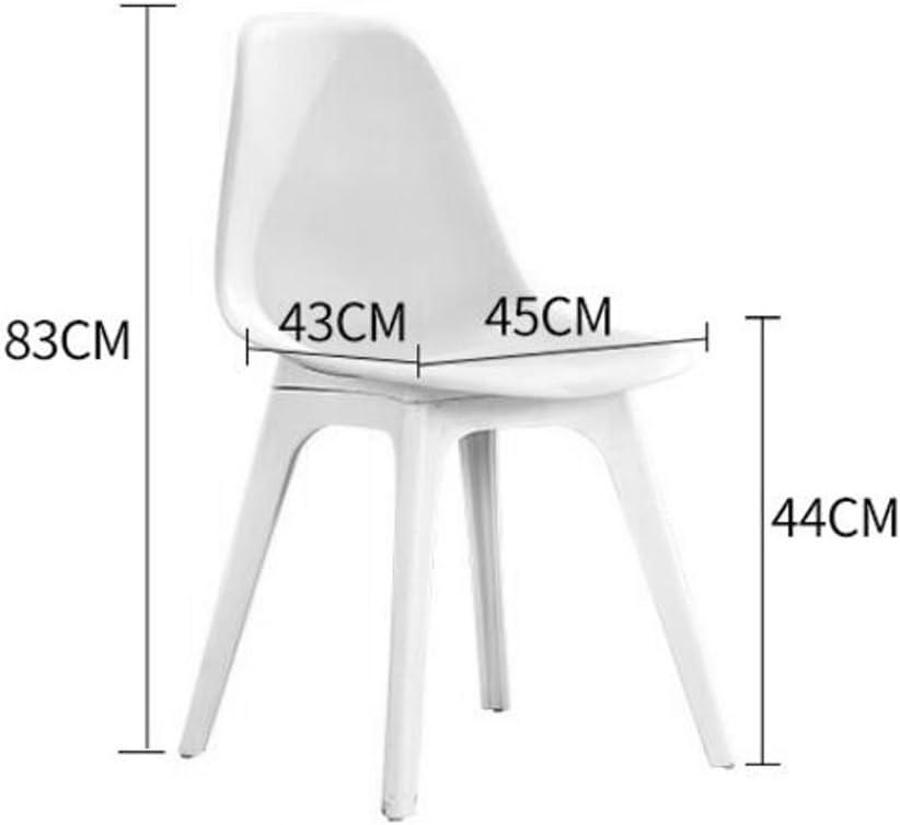 Président WGZ- Chaise Dossier Ménage Ordinateur Chaise Créativité Moderne Simple Tabouret en Plastique Adulte Restaurant À Manger Chaise Simple (Color : E) D