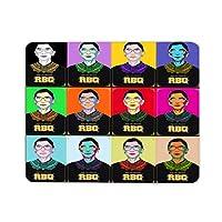 カラフル ルース・バーダー・ギンズバーグ ゲームマウスパッド天然ゴム防水オフィスマウスパッド多機能メンズマウスパッド耐久性レディース(240mm x 200mm x 3mm)