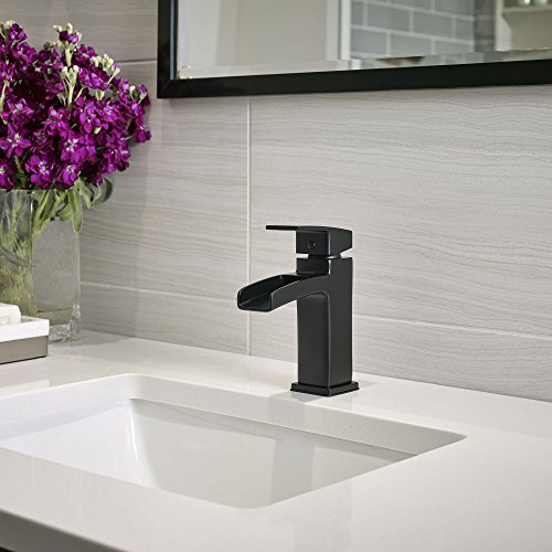Pfister LG42-DF0B Kenzo Single Control 4 inch Waterfall Bathroom Faucet Matte Black