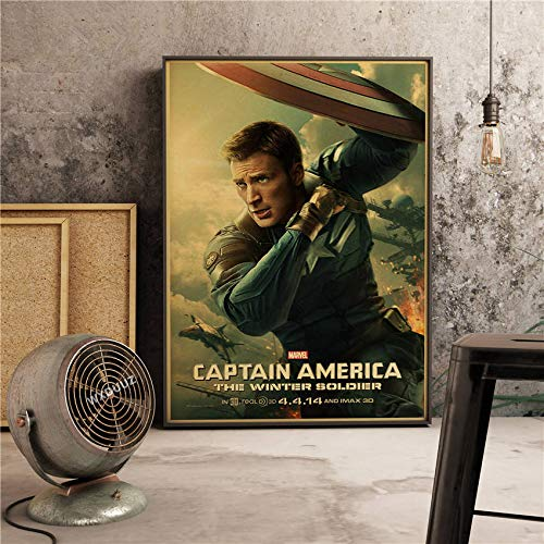 Der Kapitän Classic Super Hero Filme Poster Wohnkultur Wandkunst Bild Bild Kinderzimmer Kinderzimmer Malerei Leinwand Malerei 30 * 40cm L.