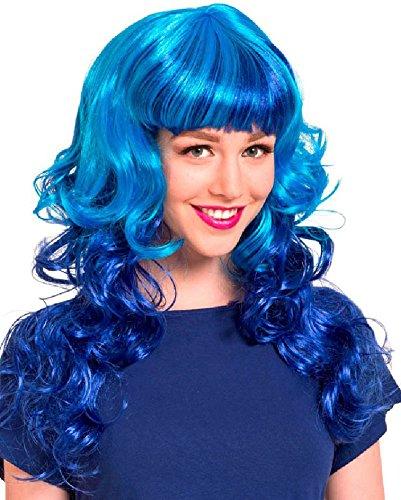 Folat 26712 – lockige Perücke – Taille Unique – Bleu