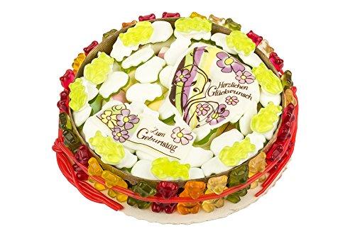 Geburtstagstorte, Fruchtgummi-Torte, Gummibären, Marshmallow, Fruchtgummi-Schnüre, 560g