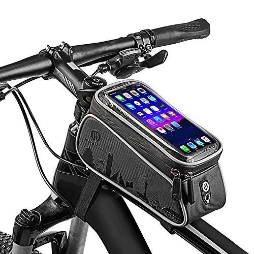 WHEEL UP Rahmentasche Fahrrad Handytasche Fahrradtasche MTB Wasserdicht Fahrrad Lenkertasche Smartphone Tasche Handy für bis zu 6 Zoll Smartphones