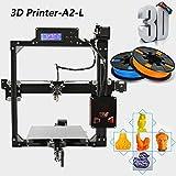 A2-L 3D Drucker DIY High-End Stampante Aluminiumlegierung Struktur Unterstützung Auto Leveling Druckbereich 220x220x220mm