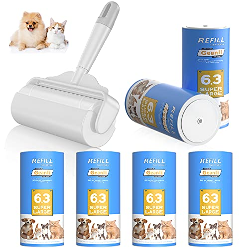 Yoabo Large Lint Roller for Pet Hair Extra Sticky丨6.3'' Wider with 420 Sheets / 6 Refills丨Giant Dog Cat Lint Rollers for Furniture丨Lint Toller for Clothes, Couch, Carpet, Car Seat