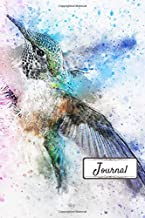 Journal: Beautiful Watercolor Hummingbird Designed Cover with 110 Blank Lined Wide Ruled Pages for Writing down your Notes, Words, Daily Thoughts, ... of Gratitude and Prayer (6x9 Journals)