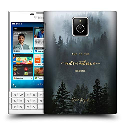 Head Case Designs Offizielle Nature Magick Baeume So Beginnt Das Abenteuer Zitat Harte Rueckseiten Huelle kompatibel mit BlackBerry Passport