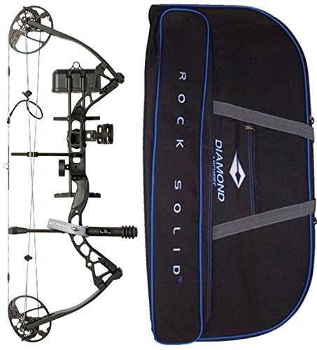 Diamond Archery by Bowtech Infinite Edge Pro RAK Package - Left Hand Model in Black Bundle with Case
