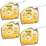 Post-it 652 Labeling & Cover-Up Tape, Non-Refillable, 1/3' x 700' Roll (4)