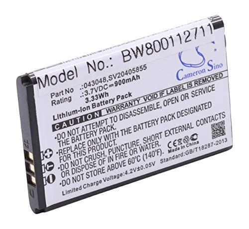 vhbwLi-Ion batería 900mAh (3.7V) para teléfono Fijo inalámbrico Swissvoice Epure, Epure fulleco Duo por 043048, SV20405855.