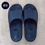 Nwarmsouth Zapatillas de Ducha para Mujer EVA,Sandalias desodorantes Antideslizantes, Sandalias de Masaje para baño Azul Marino_42-43,Baño Sandalia Suela De Espuma