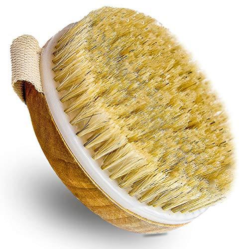 Simply Prima Körperbürste Naturborsten, Massagebürste, Trockenbürste Körper Peeling Bürste, Cellulite Bürste, Duschbürste, Badebürste, Dry Brush, Massage Bürste,...