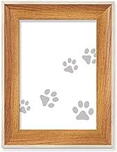 Cat Mewing Animal impressão de pata, impressão de animal cinza para mesa, moldura de madeira para fotos, pintura artístic...
