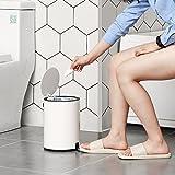 SONGMICS Kosmetikeimer aus Stahl 3 L, Badezimmer Mülleimer mit Softclose, Badeimer mit ABS-Deckel und Inneneimer LTB11WT - 5