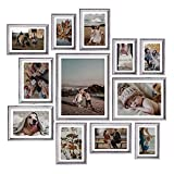 Picture Frames Set Wall Decor - 12 Pcs Photo Frames Collage for Wall or Tabletop Including 4x6 5x7 6x8 8x10 11x14 inch