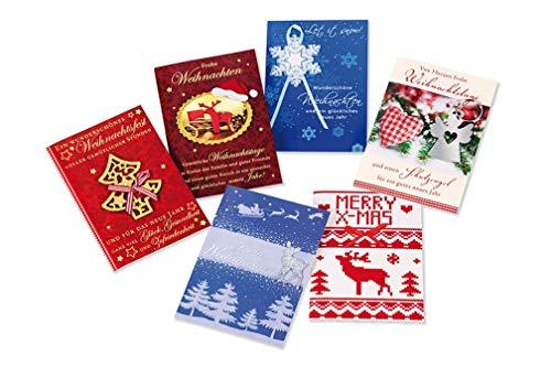 Kerstkaart 6-delige doos - 6 hoogwaardige kaarten -
