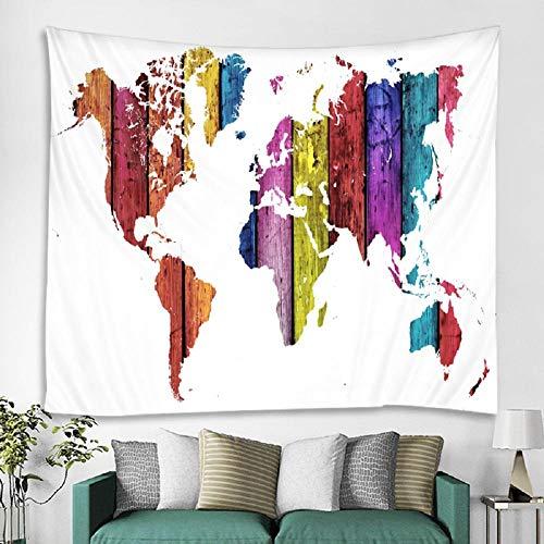 Tapiz de mapa del mundo de estilo nórdico, toalla de playa para colgar en la pared, manta fina, mantón de yoga, esterilla 150x200cm / 59x79inchch