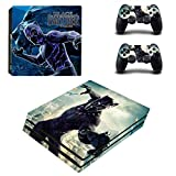 Vanknight PS4 Pro Playstation 4 PRO Console Skin Set Vinyl Decal Sticker 2 Controllers Panther(PRO only)