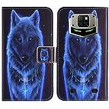 TienJueShi Wolf Flip Stand Brief Leder Tasche Schütz