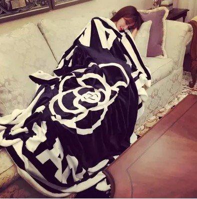 WJP Les Textiles en Coton 100 % Naturel Douce Couverture Accueil Canapé-lit Throw Blanket Chenille Polaire European American Country 353