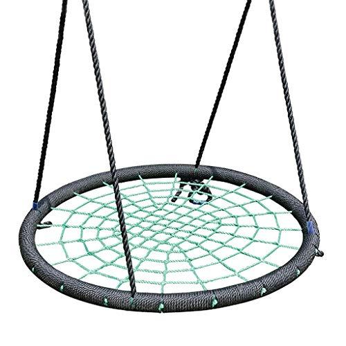 FYRMMD Silla Colgante Columpio de Nido Redondo para niños Colgador de Ropa para Interiores y Exteriores Cuerda de Red Columpio Stout Ba (Columpio de jardín)