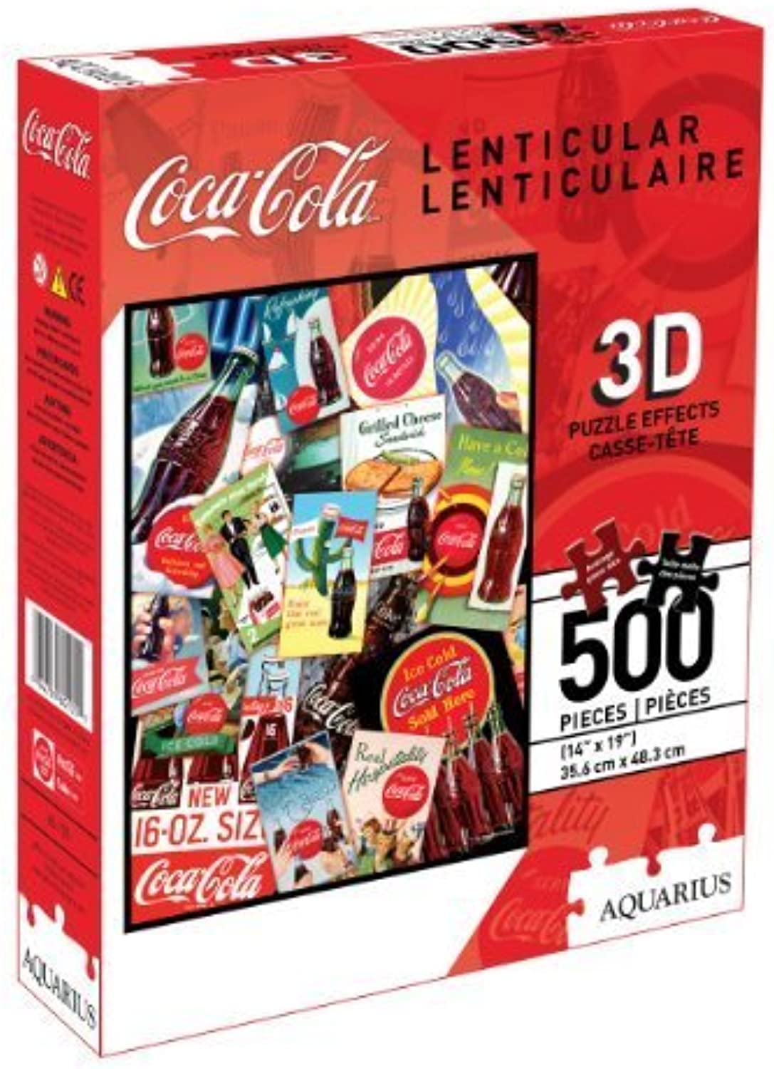 CocaCola 500 Piece 3D Lenticular Jigsaw Puzzle by NMR Distribution