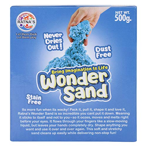 RATNA'S Wonder Sand 500 Grams for Play. Smooth Sand for Kids (Blue 500 Grams), ONE Big Mould Inside (Without Tray) 3