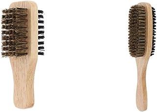 Harilla 2 st herr borst skägg mustasch vård utjämningsborste med trähandtag