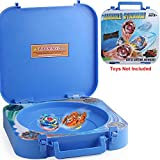 HOME4 2in1 Battle Stadium Holder Arena Compatible with Beyblade and Toy Storage Organizer Carrying Case Box
