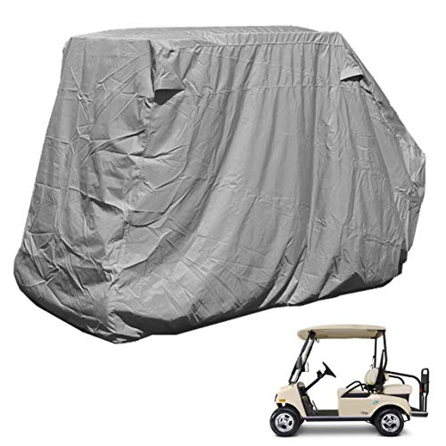 ez go golf cart covers Golf Cart Storage Cover for EZGo, Club car 4 Seater with 2 Seater Roof up to 58