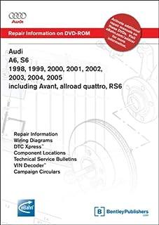 Audi A6, S6 1998, 1999, 2000, 2001, 2002, 2003, 2004, 2005: Repair Manual on DVD-ROM: Including Avant, Allroad Quattro, Rs6