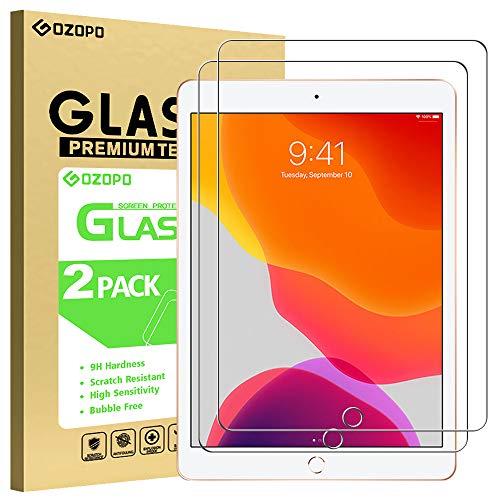 GOZOPO Displayschutzfolie für iPad 8. Generation (2020)/7. Gen (2019) [9H Härte/2.5D Rand] Panzerglas Schutzfolie für iPad 10.2