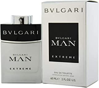 Bvlgari Man Extreme Eau De Toilette Spray for Men, 2 Ounce