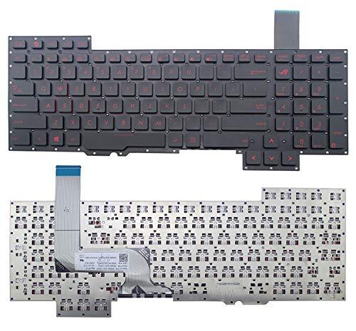KENAN New US Laptop Keyboard (Without Frame) Replacement for ASUS Rog G751 G751J G751JT G751JL G751JY G751JM G751JL-WH71(WX) G751JT-DH72 G751JT-CH71 G751JT-DB73 red Letter