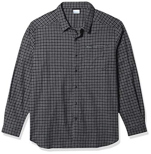 Columbia Men's Cornell Woods Flannel Long Sleeve Shirt, Nimbus Grey Plaid, XX-Large