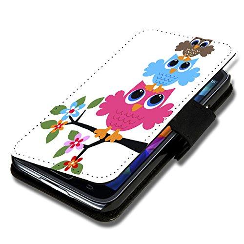 Book Style Flip Handy Tasche Hülle Schutz Hülle Schale Motiv Etui für Wiko Stairway - Flip 1A35 Design3