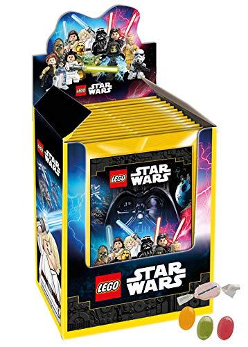 DE Lego Star Wars Sticker 2020 - 1 Display (36 Stickertüten) zusätzlich 1 x Fruchtmix Sticker-und-co Bonbon