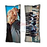 Cosplay-FTW Kpop Stray Kids Double Knot Felix Body Pillow Peach Skin Cotton Polyester Blend 40cm x 100cm (Set of 1, CASE ONLY)