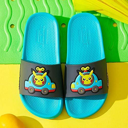 COQUI Sandalia Art Mujer,Nuevas Zapatillas de Primavera y Verano para niños, Dibujos Animados de Moda, Lindo Pikachu, Zapatillas cómodas para Interiores y Exteriores-Lago Azul_170