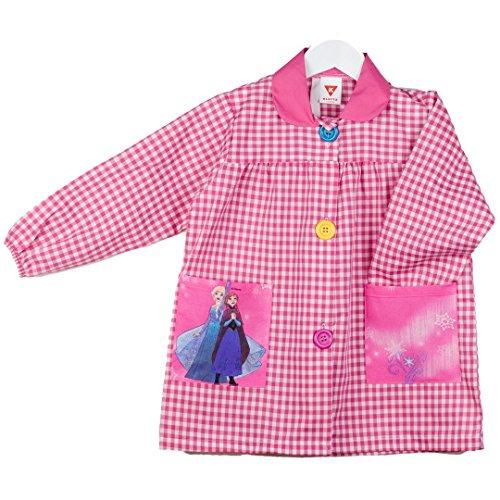 KLOTTZ - Babi guardería con bolsillos de tela Frozen de la marca Bata colegio y comedores niños Niñas color: FUCSIA talla: 3