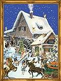 Richard Sellmer Verlag Company 70117 - Calendario dell'Avvento vittoriano con scena natalizia di circa 26,7 x 35,6 cm