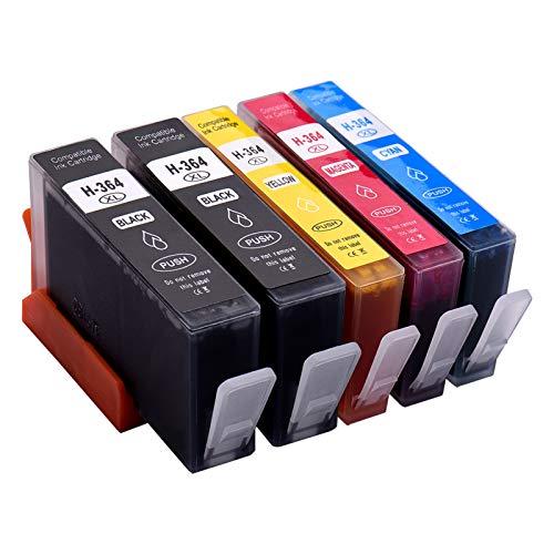 Aibecy Cartuchos de tinta de repuesto para HP 364XL 364 XL, HP Photosmart 5388 5510 5522 7510 7520 B8550 B8553 B8558 C309 C309a HP Officejet 4610 4620 4622 HP Deskjet 3070A 3520 3522 4622 Impresora